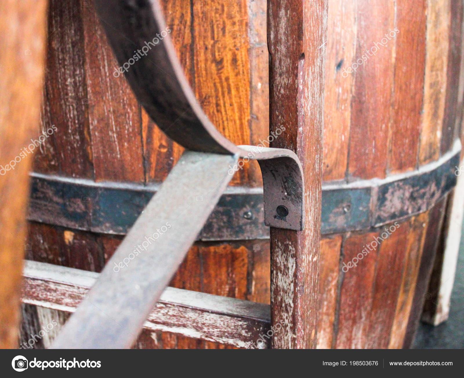 Mesa Sillas Hechas Los Tanques Fermentación Muebles Para