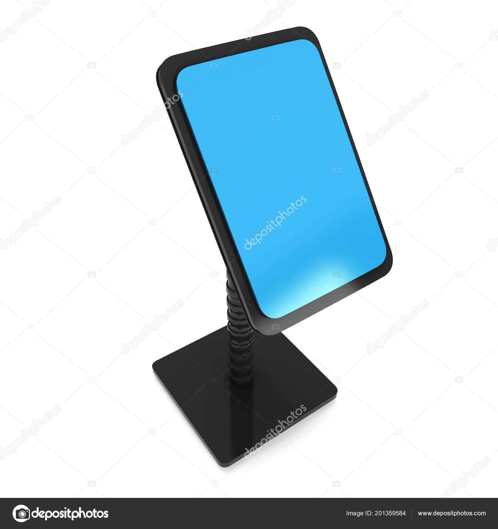 Lcd Screen Stand Trade Show Booth Render Info Kiosk Isolated Stock