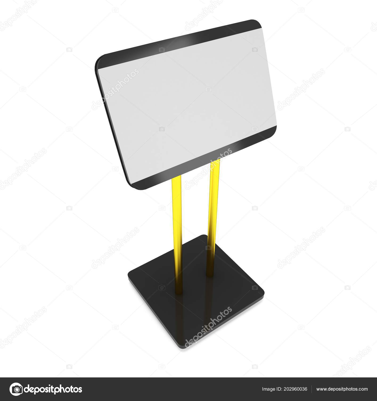 Trade Show Booth Lcd Screen Stand Stock Photo C Newb1 202960036