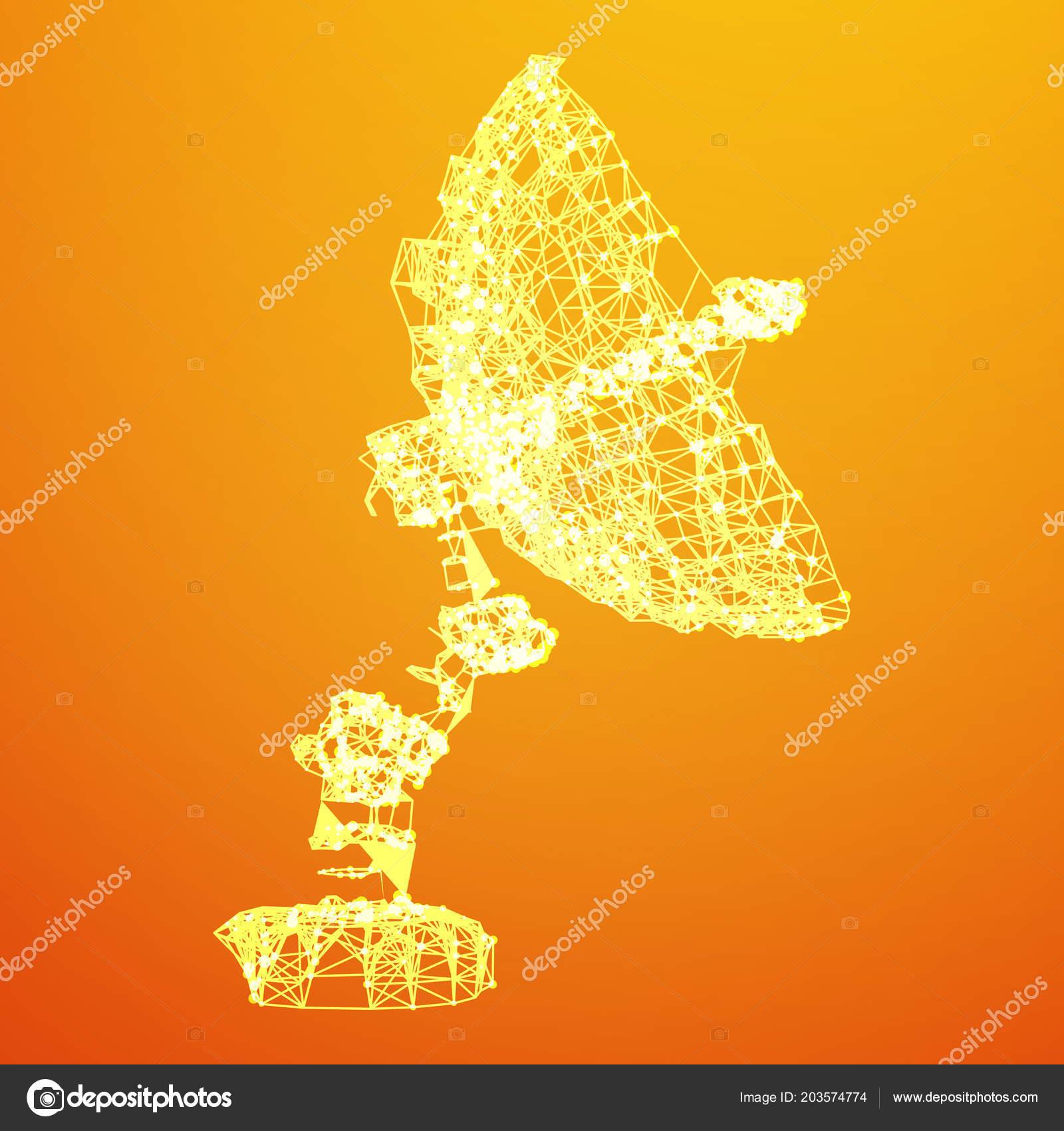 satellite dish wireframe vector ストックベクター newb1 203574774