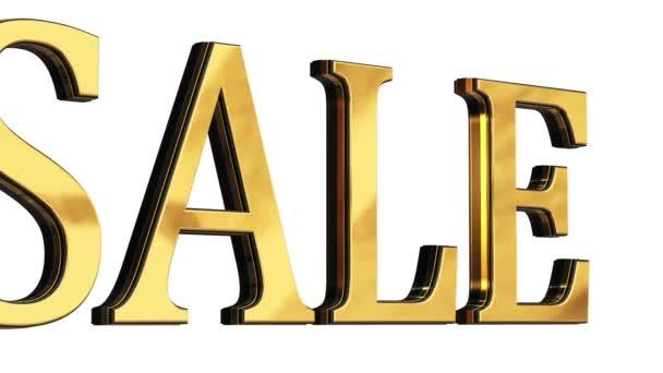 3d gold text letters Sale