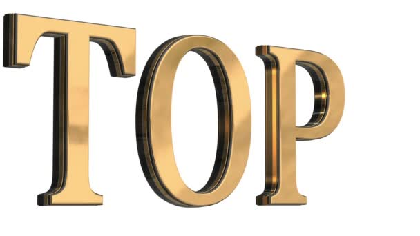 3d gold text letters top
