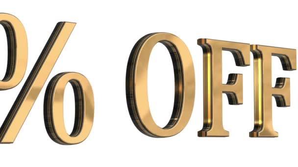 3D arany szöveg betűk ötven százalékot off eladó