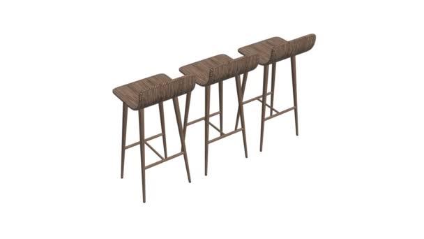 Bar bútorzat széklet 3d