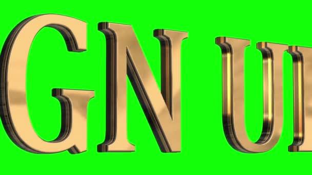 3D písmena zlaté textu přihlásit se