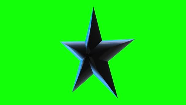 Černá 3d hvězda otáčení