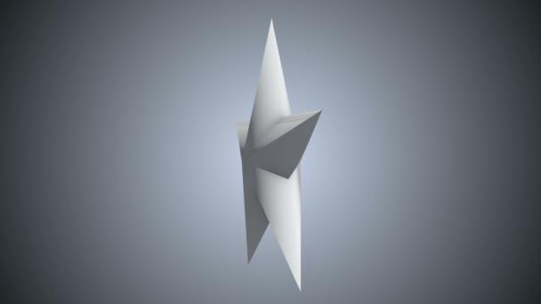 Bílá 3d hvězda otáčení
