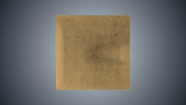otočení 3D zlatá truhla