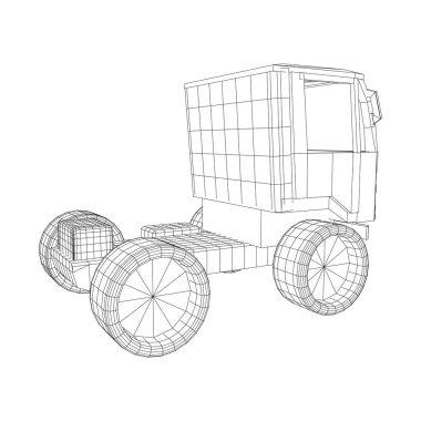 Truck or lorry car. Vector.