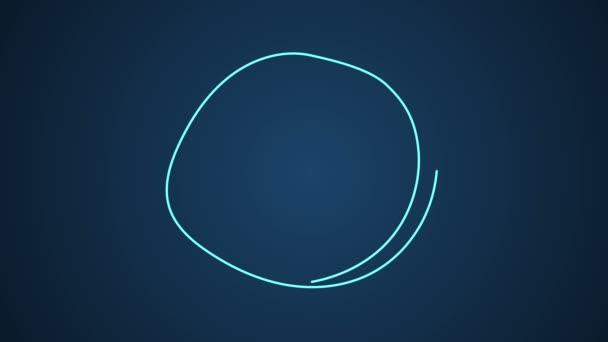 Ručně kreslené klikaté kruhy