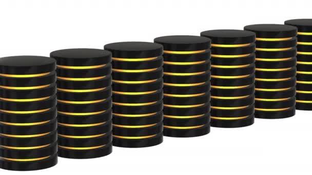 futuristische Serverfestplatte und Datenbank oder Batteriezelle.