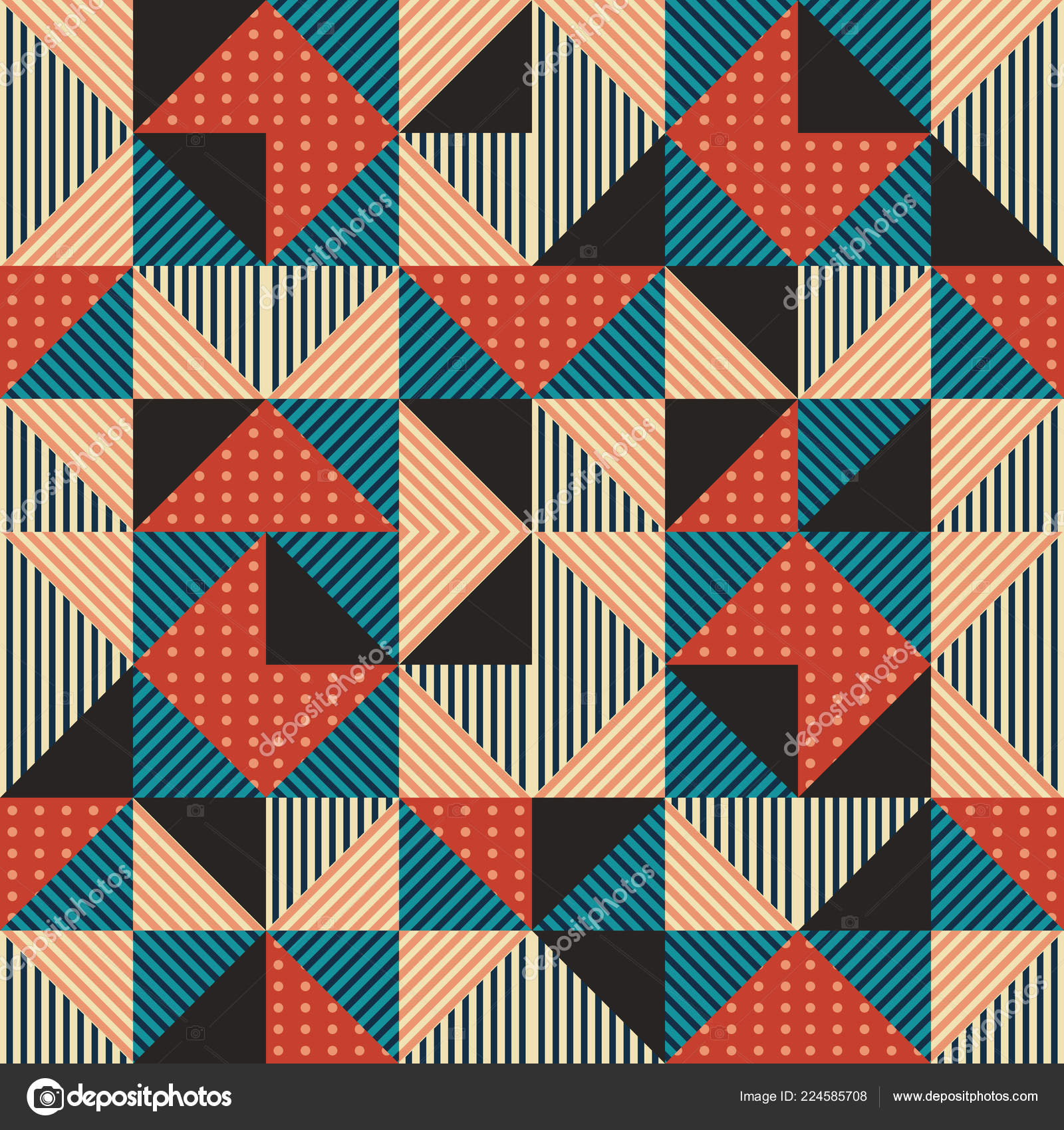 Trendy Pattern Background Abstract Triangle Memphis 90S