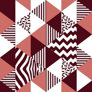 Seamless trendy hipster geometric shape pattern