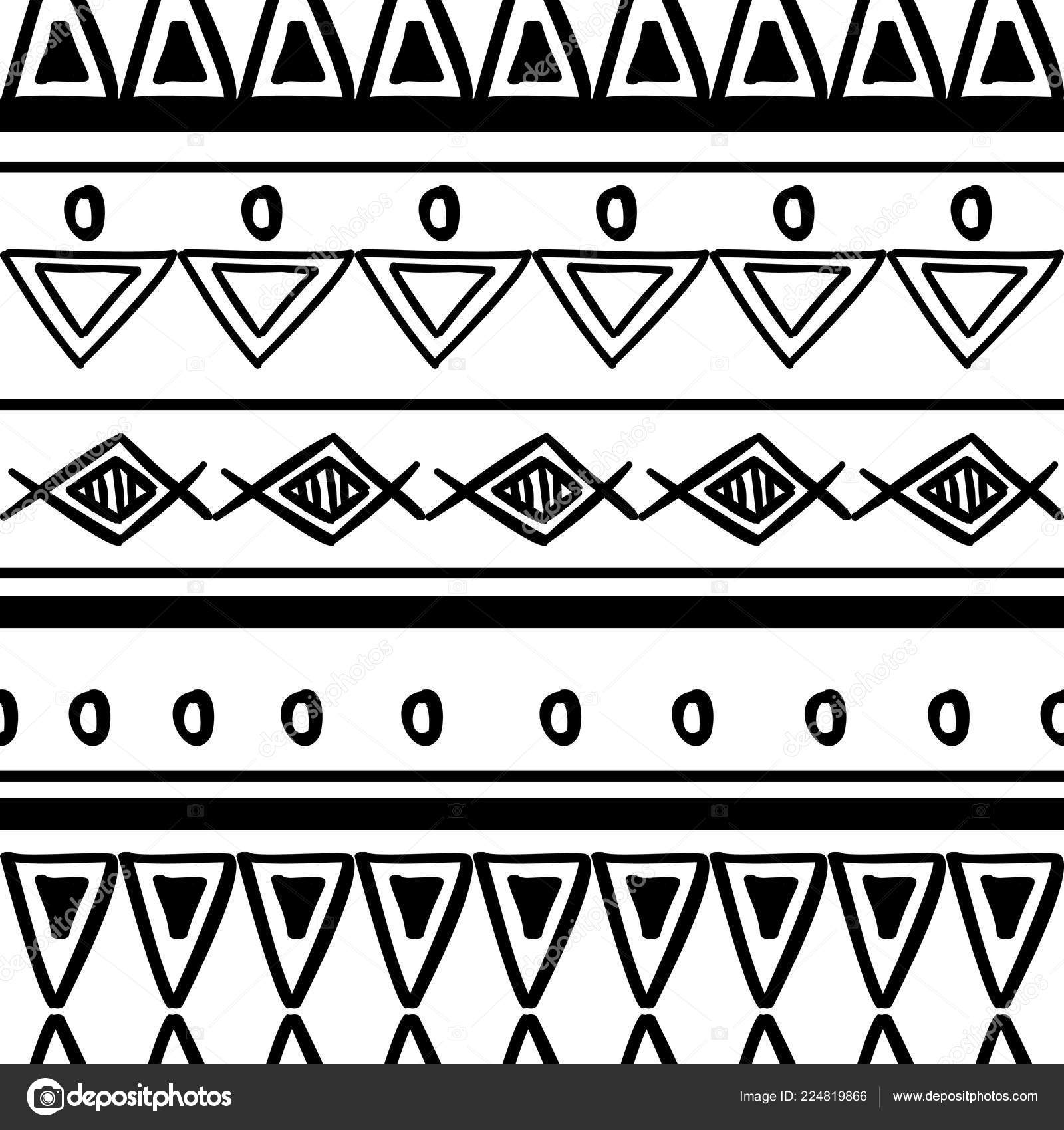 Tribal Pattern Texture Hand Drawn African Aztec Maya Creative