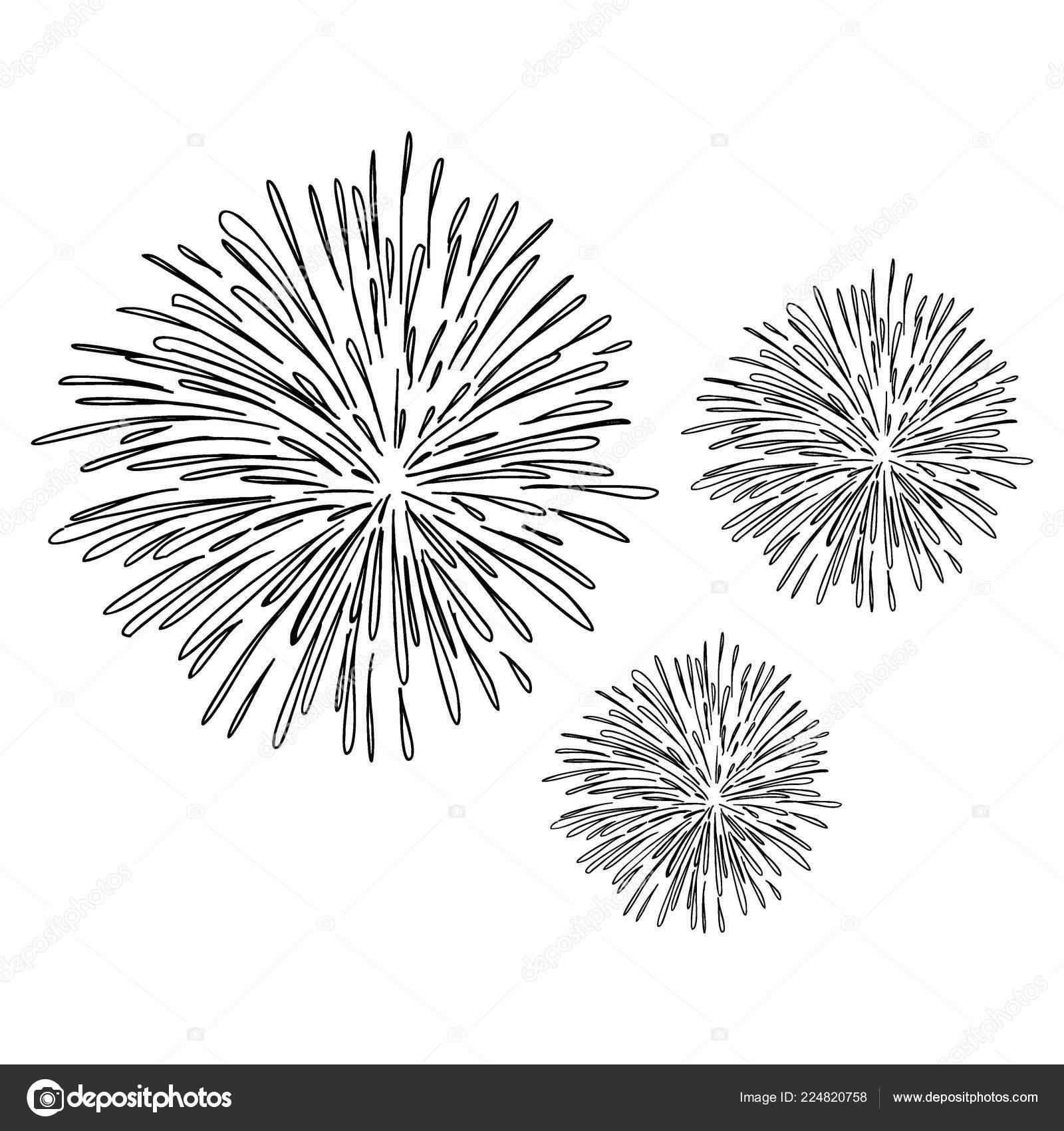https depositphotos com 224820758 stock illustration fireworks hand drawn sketch drawing html