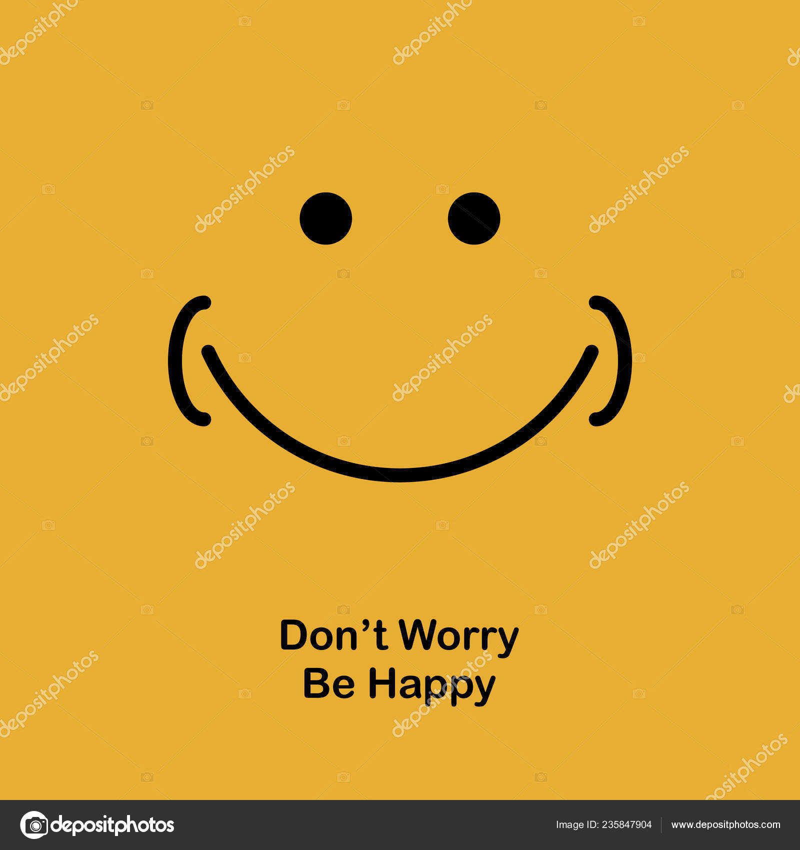 Motivational Quotes Poster Banner Design Happy Smile Vector