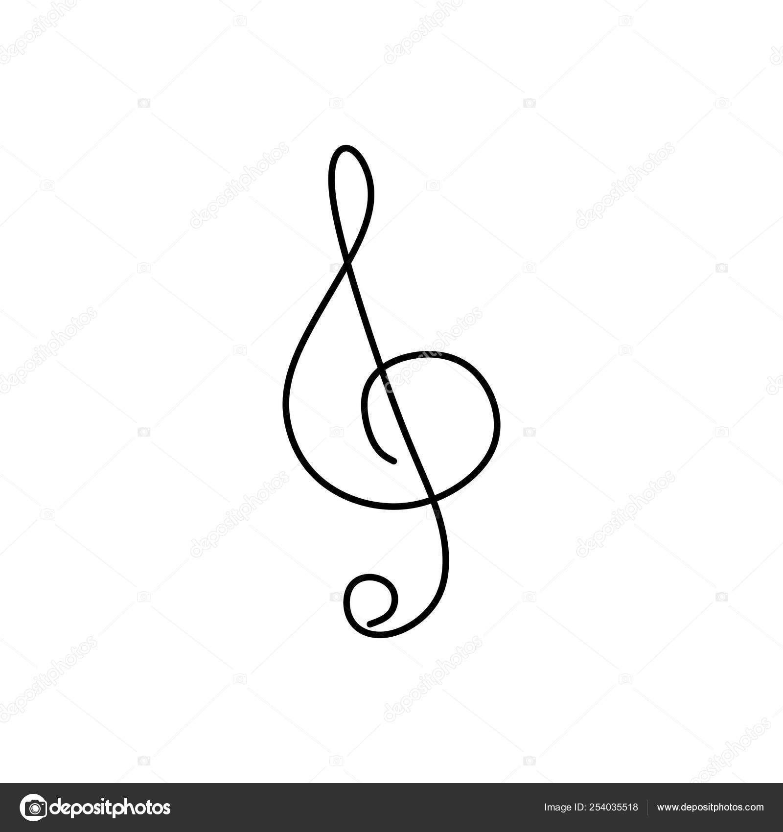 Music Line Drawing Continuous Line Drawing Of Music Note