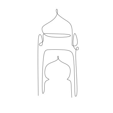 Ramadan one continuous line drawing of lantern