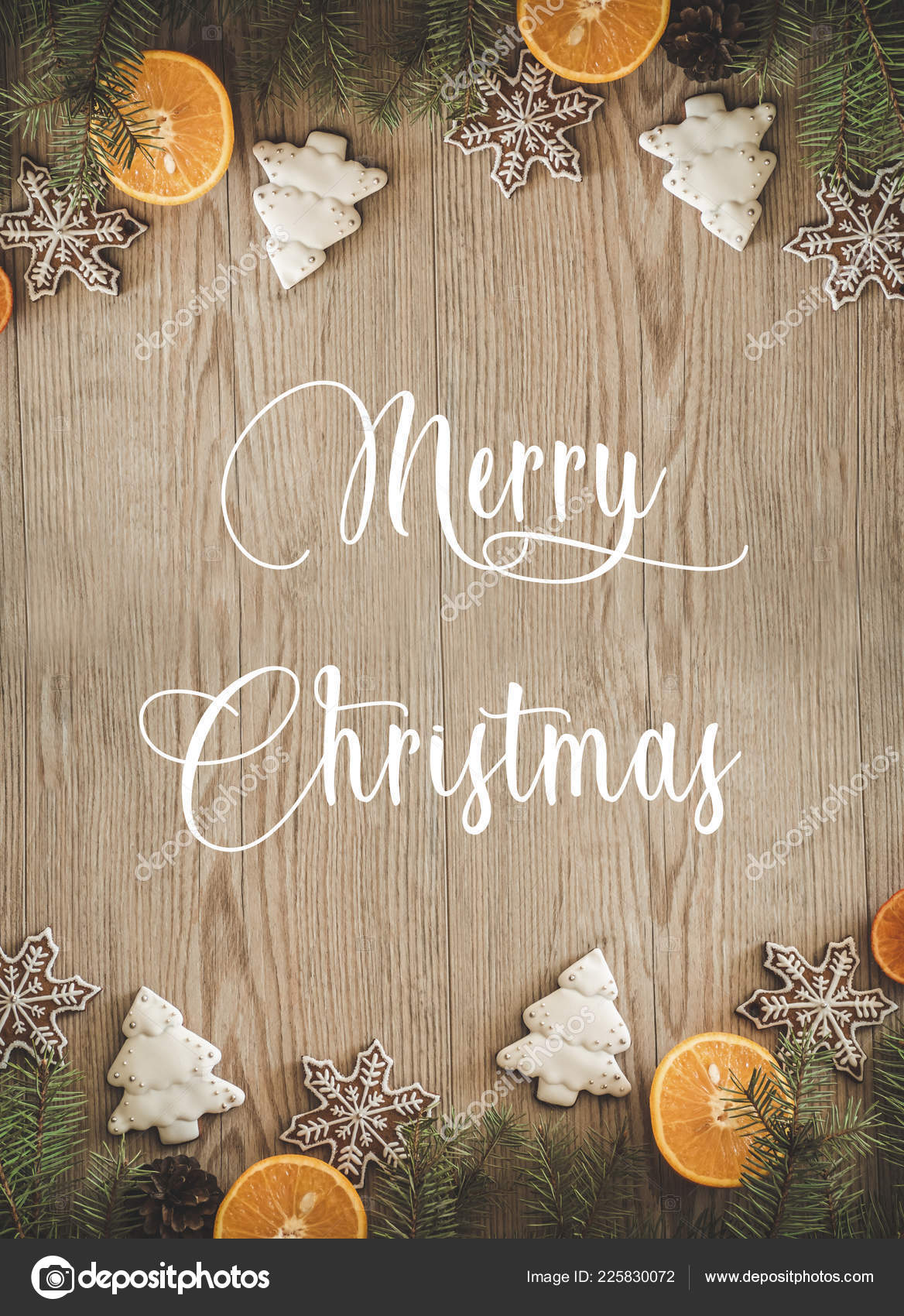 Christmas Holidays Pictures.Christmas Holidays Composition On Wooden Background With