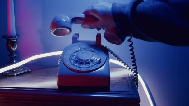 Retro 80s telefonní koncept