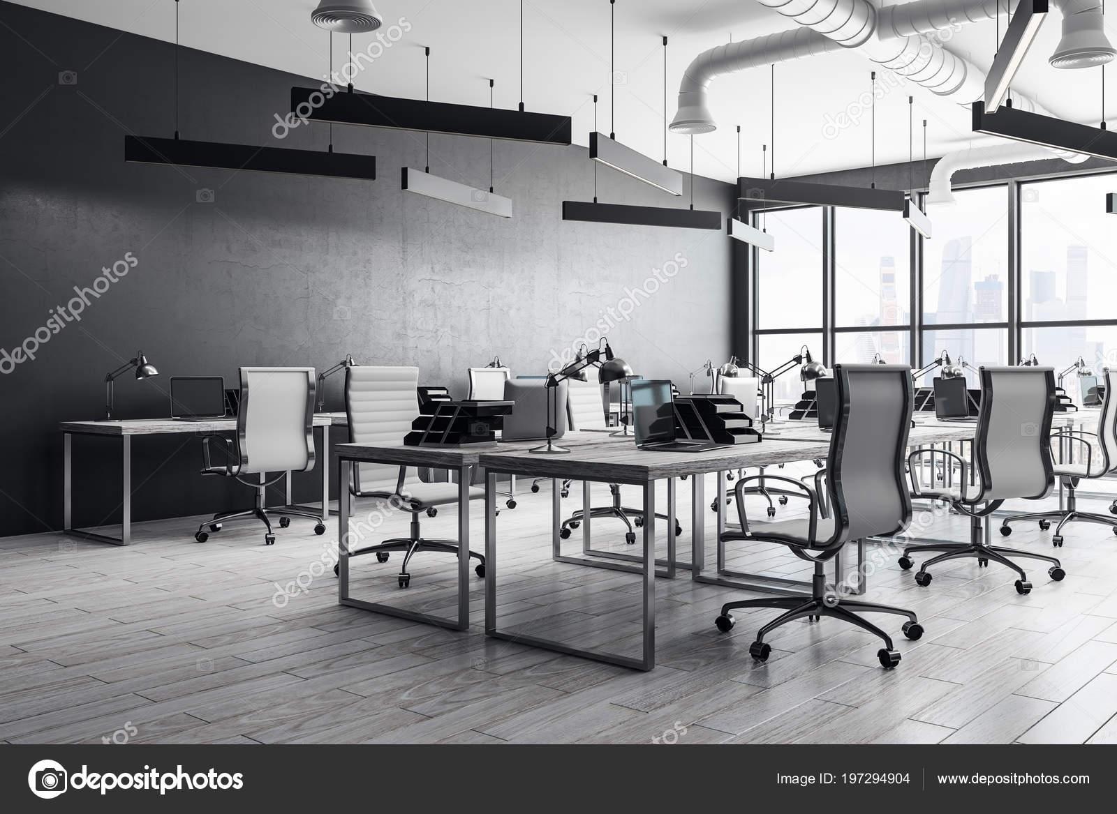 Coworking Intérieur Bureau Meubles Équipement Moderne Concept Lieu ...