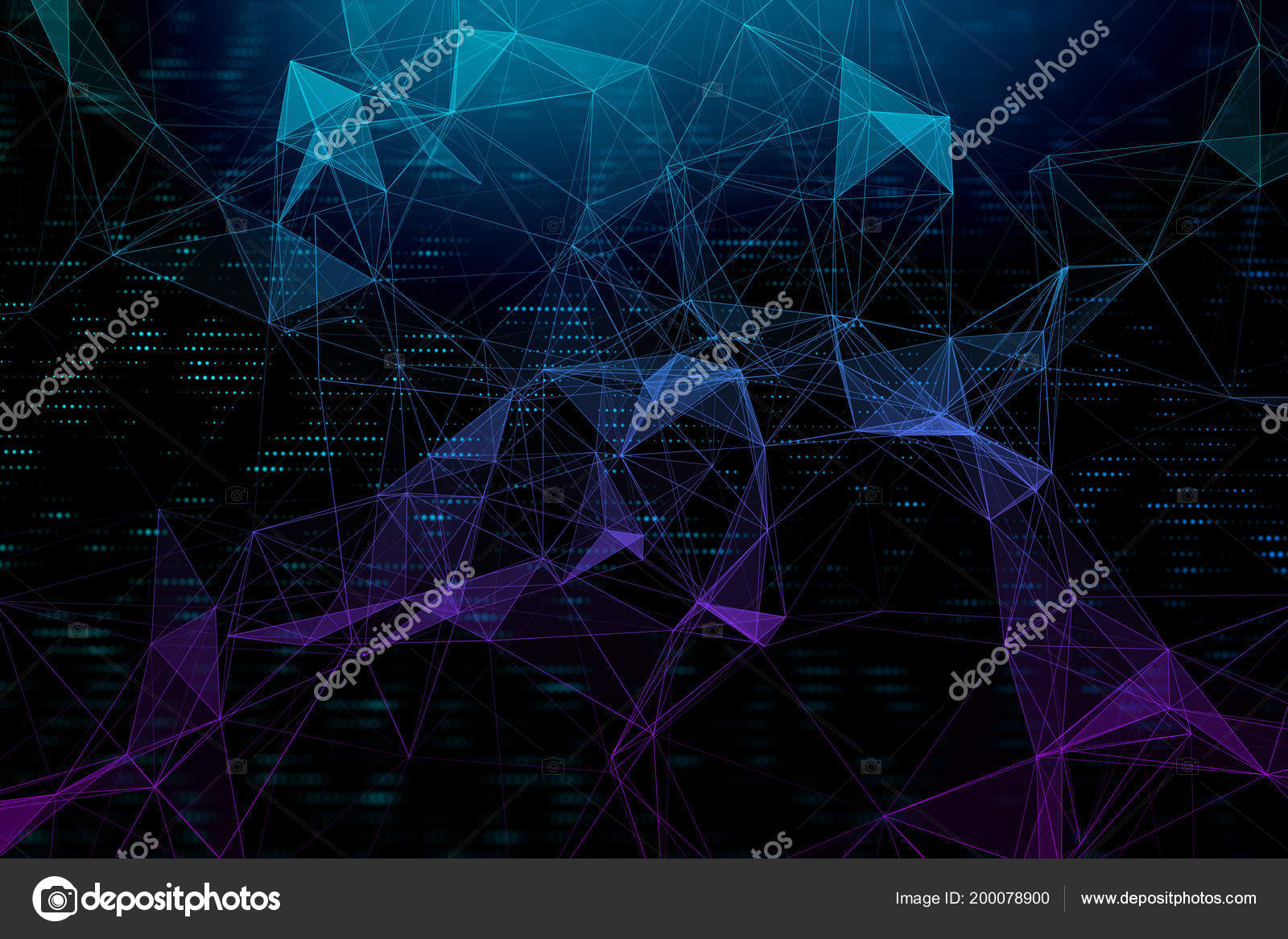 Blockchain Technology Wallpaper Creative Digital Polygonal
