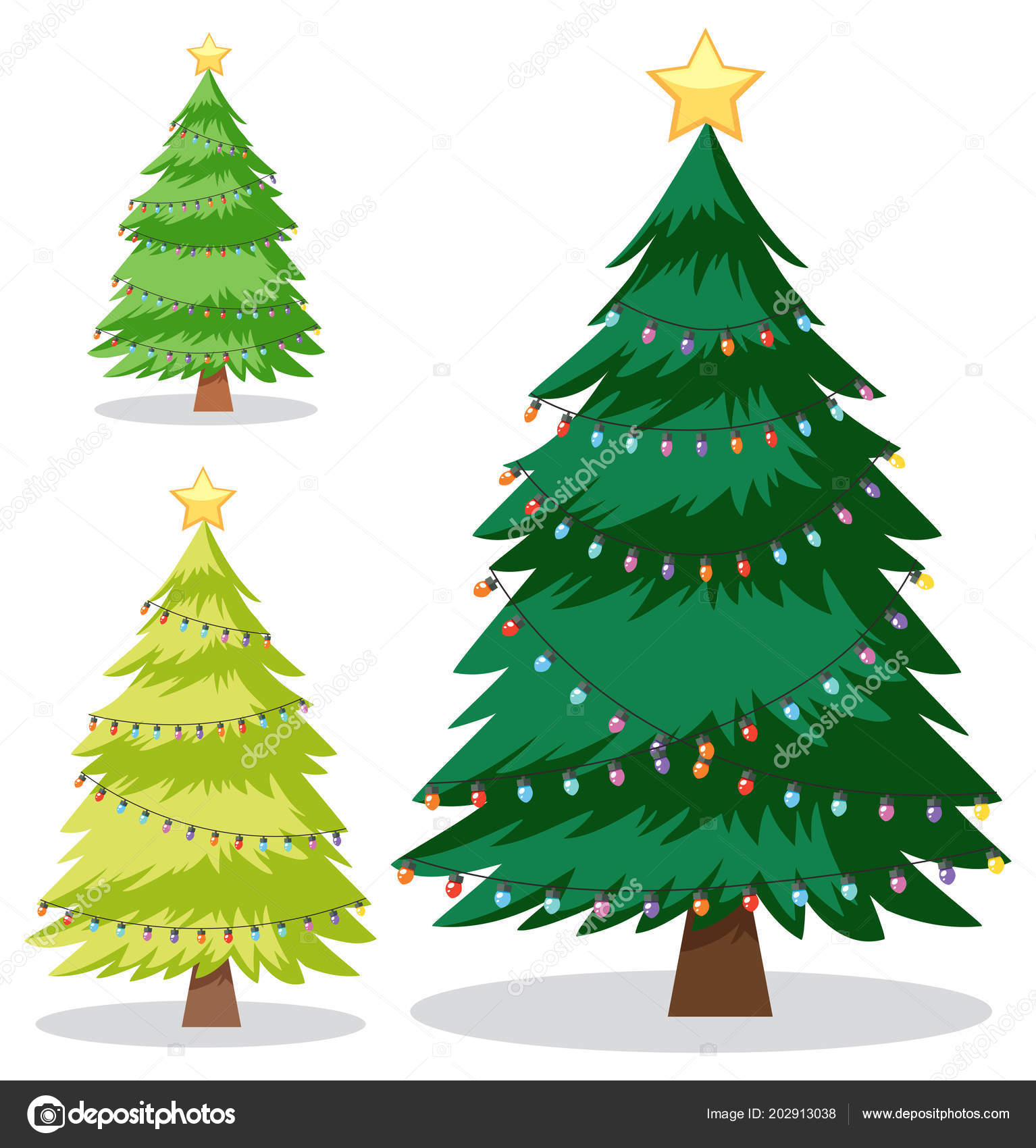 Christmas Tree Illustration.Set Christmas Tree Illustration Stock Vector