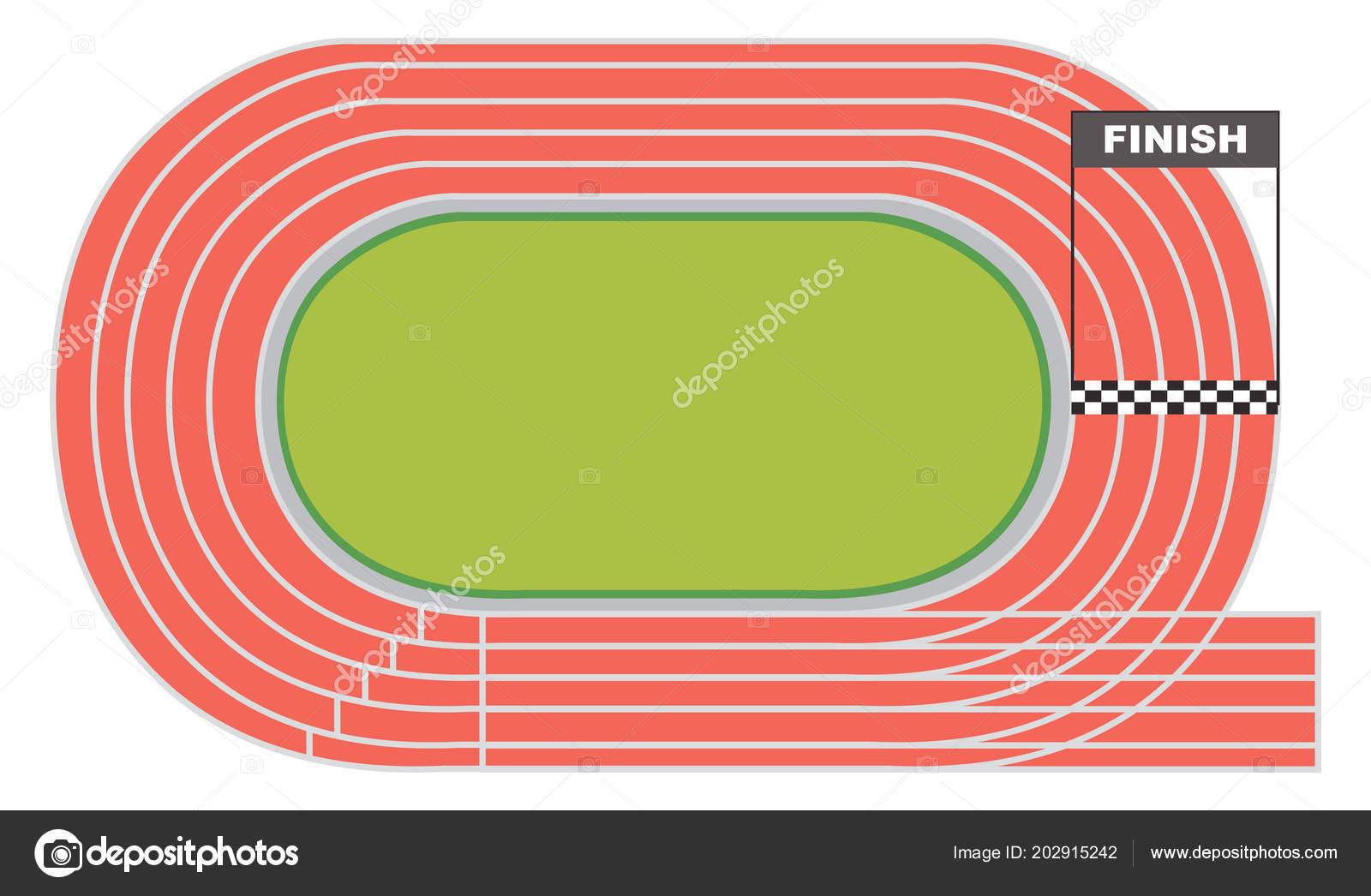Vista Aérea Una Ilustración Pista Atletismo