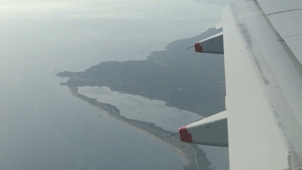 Luftaufnahme von Korfu mit seiner Lagune Limni Korission. (Griechenland).