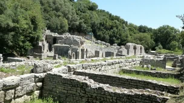Buthrotum, Vlora / ALBANIA May 29 2018: People visiting ruins of Buthrotum (Albania) of roman and venetian time.  Archaeological park. Also known as Butrint and Butrinti.