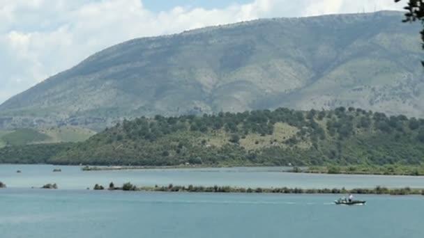 Lake Butrint at Albania ruin city Bouthroton.