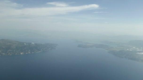 Straits of Corfu. coasts of Albania and Greece.