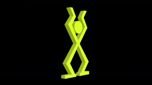 3D Sequenz aus verschiedenen Grafiken von männlich und Männer Beschilderung hergestellt