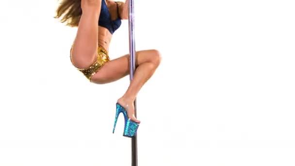 female pole dancer