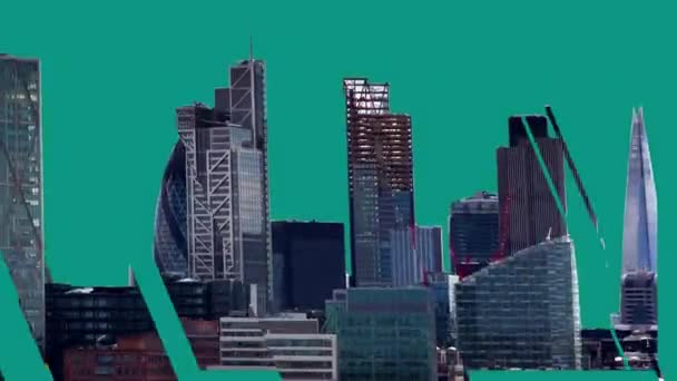amazing london city timelapse with a distortion breaking up the buildings into different shapes and forms