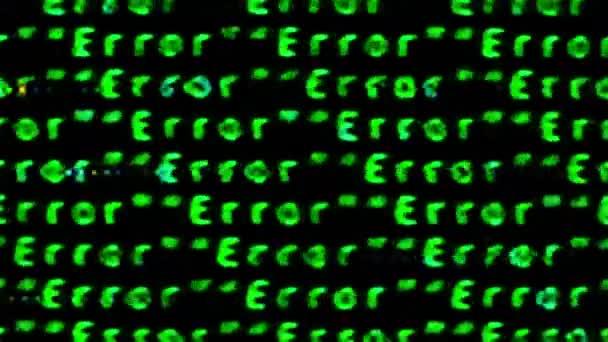 opakující se zobrazí chybová zpráva, po obrazovce počítače s přidanou závada a efekty deformace