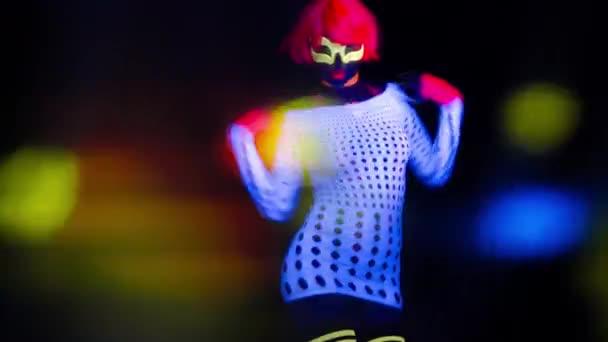 szexi női disco táncos ruha Uv jelent