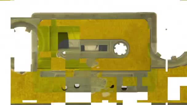 sekvence ze starých audiokazet v retro magnetofon