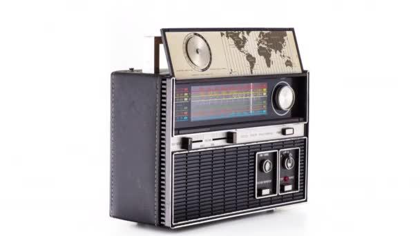 Retro hifi ghettoblaster rádio točících se okolo