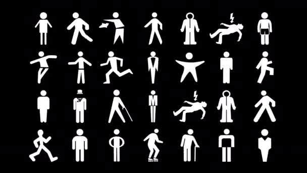 sequence made from different graphic images of male and men signage
