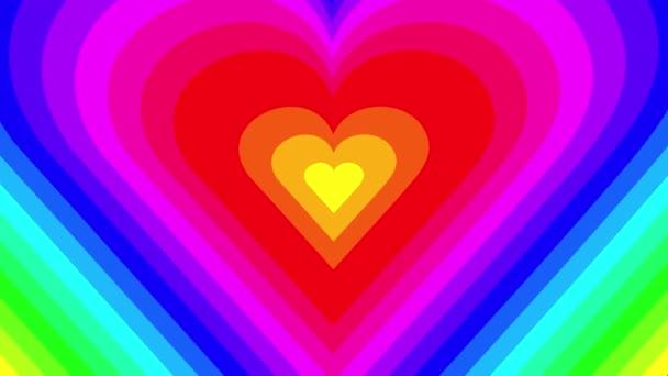 absztrakt háttér motion grafika a szívek