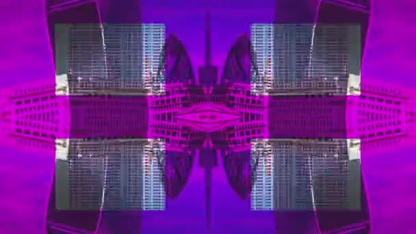 unusual abstract pattern made from time lapse of amazing london skyline and river thames
