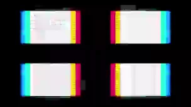 Binární kód a čísla běží na obrazovce počítače s abstraktní efekty