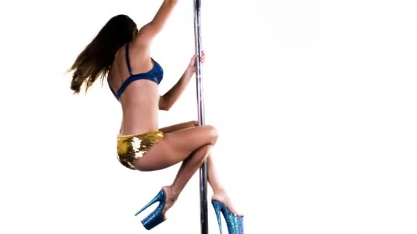 female pole dancer