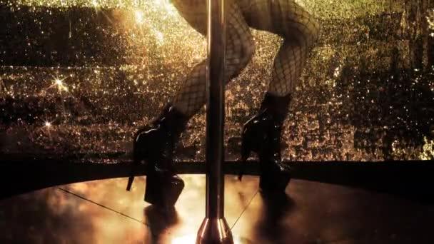 amazing pole dancer series, focus on legs