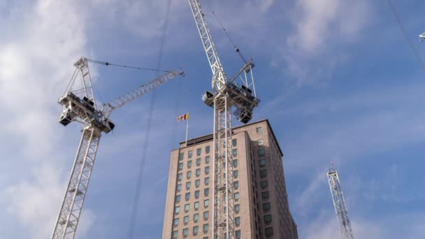 efa0508461 Looking Cranes Working Tower Building London — Stock Video © dubassy ...