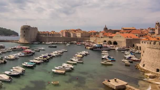Timelapse of amazing walled city of Dubrovnik on Adriatic coast, Croatia