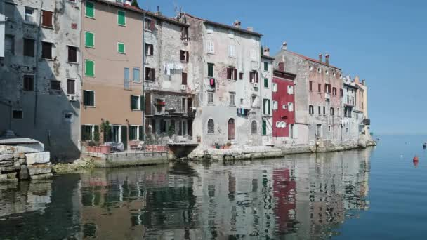 Beautiful historic walled seaside town of Rovinj, on Istrian peninsula of Croatia