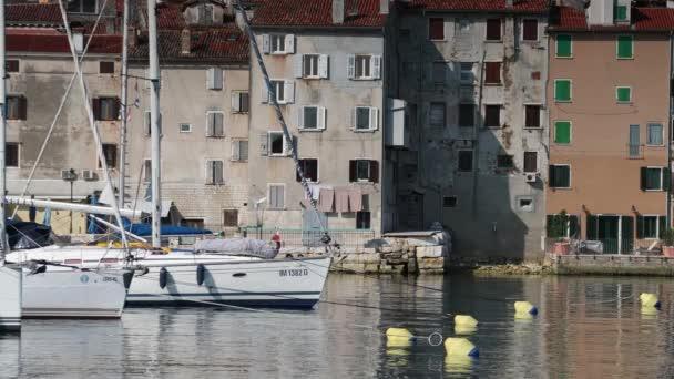 Krásné historické zděné přímořské město Rovinj, na Istrijském poloostrově Chorvatska