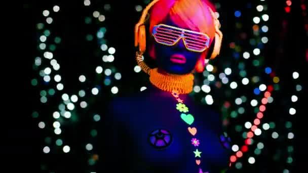 záře uv neon sexy disco ženské cyber doll robot elektronické hračky